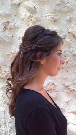 cheveux wavy et tresse mariage 2019