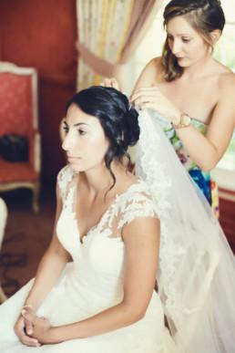 chignon wavy voile mariée marseille