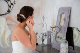 Chignon et bijou dans les cheveux, coiffure de mariage aix en provence